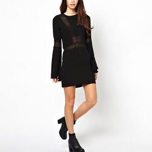 For Love & Lemons Zoey Black Mini Dress